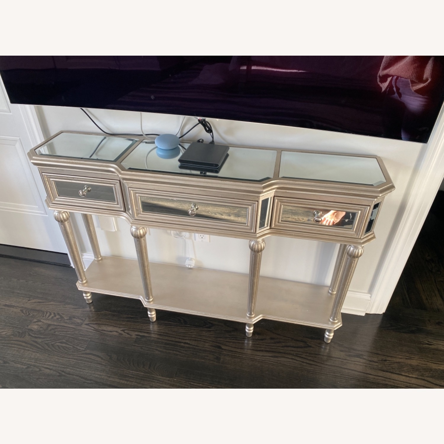 Mirrored Hallway Table Console - image-2