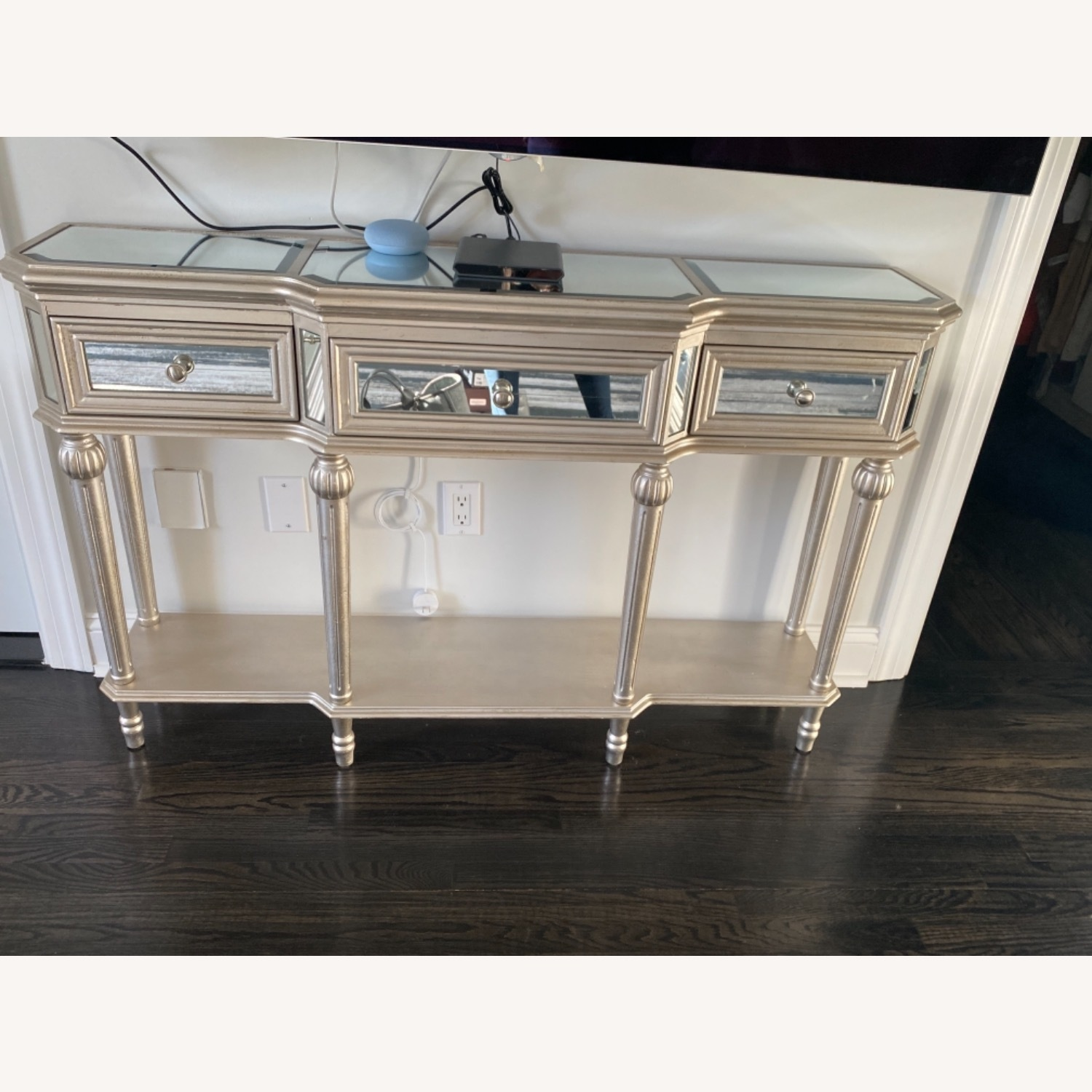 Mirrored Hallway Table Console - image-1