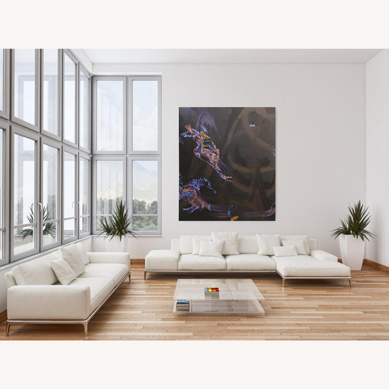 Deep Brown Floral Painting - image-0