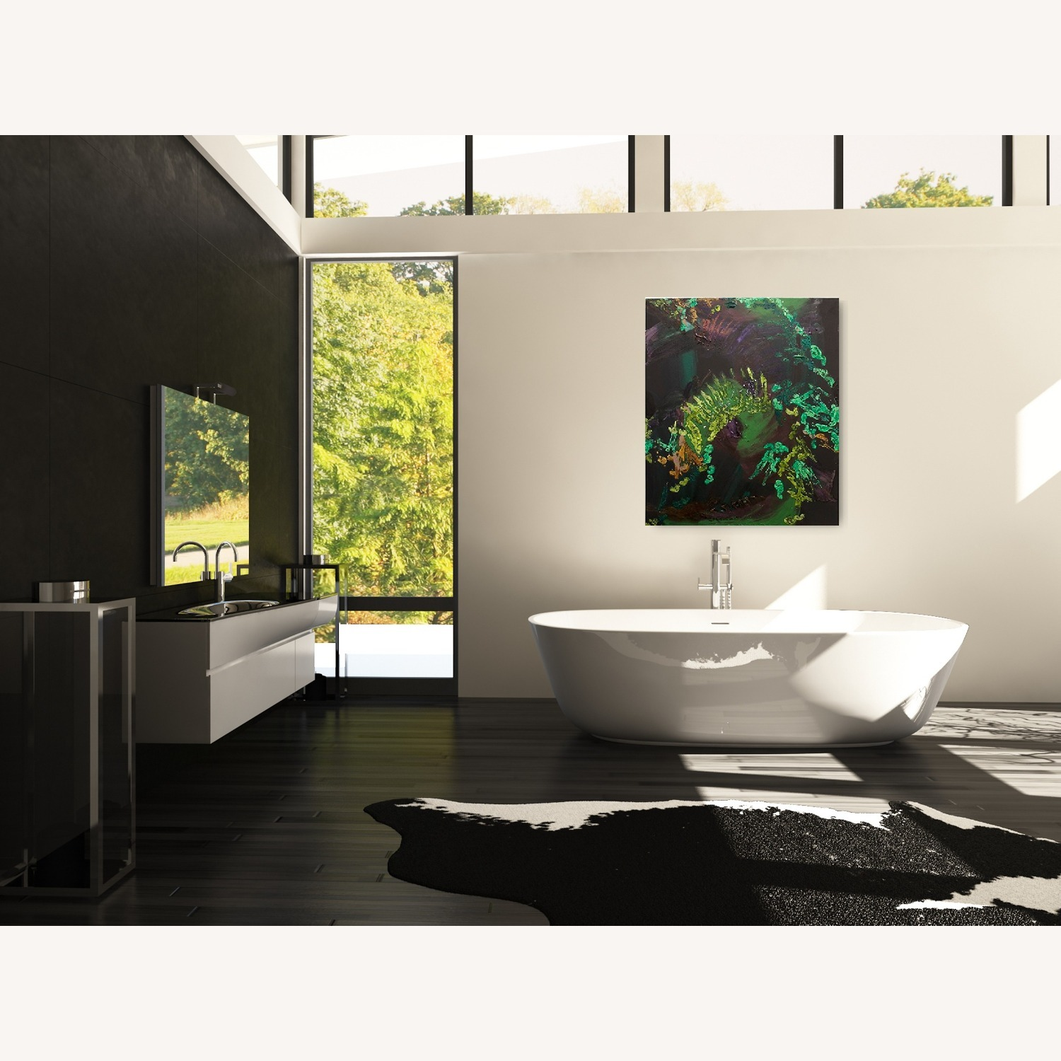Abstract Canvas Painting - image-0