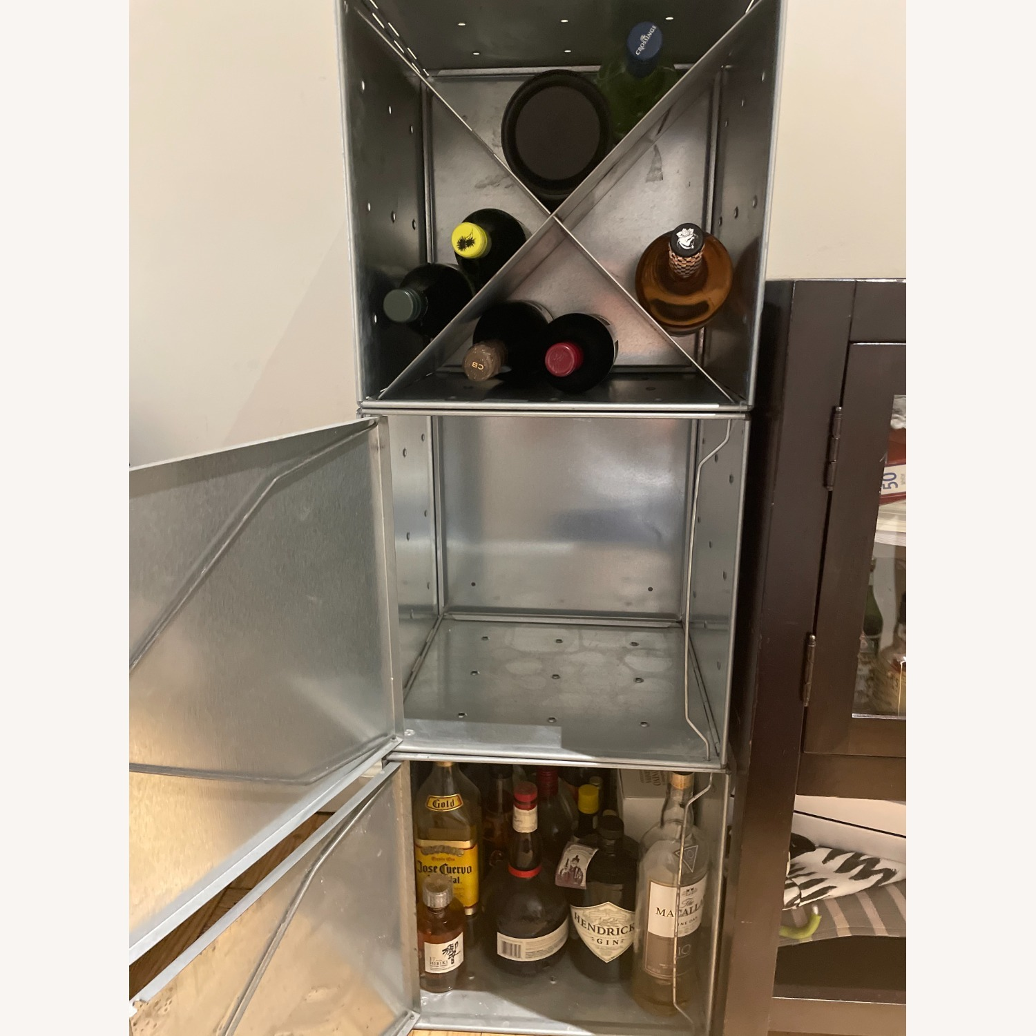 Container Store Industrial Style Wine Storage - image-3