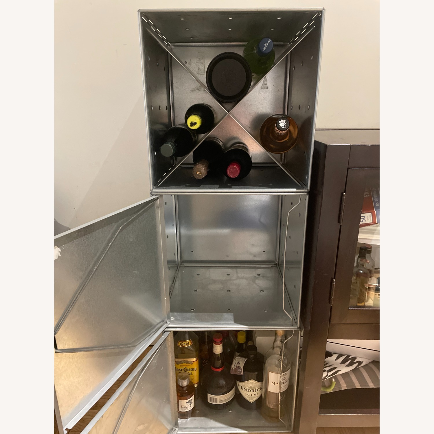 Container Store Industrial Style Wine Storage - image-7