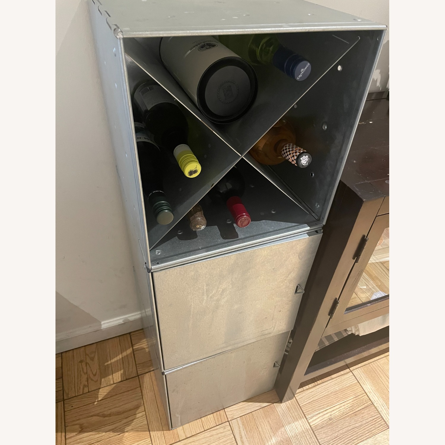 Container Store Industrial Style Wine Storage - image-6