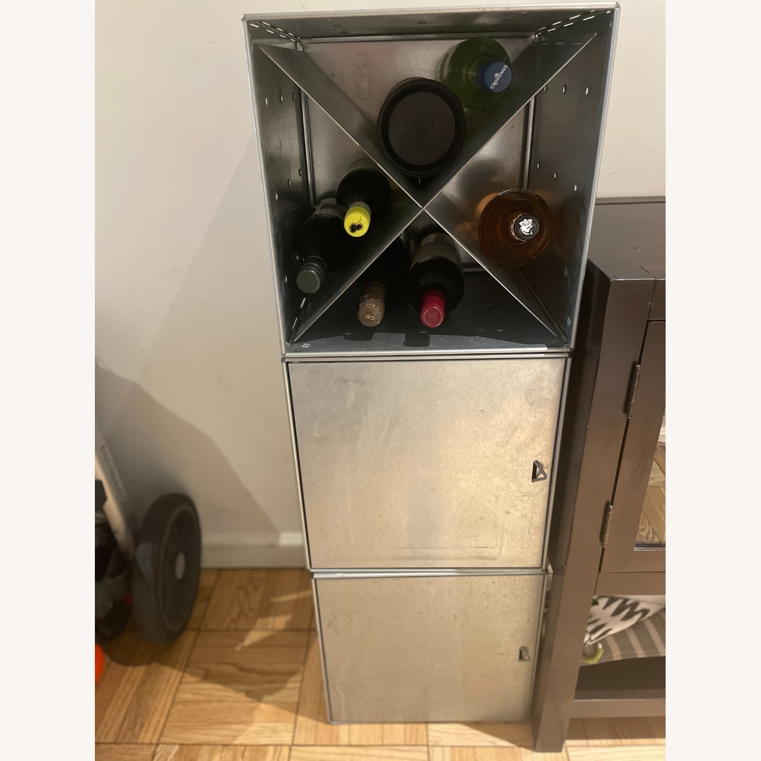 Container Store Industrial Style Wine Storage - image-2