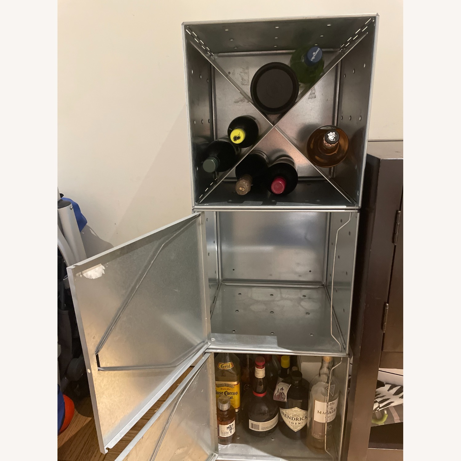 Container Store Industrial Style Wine Storage - image-4