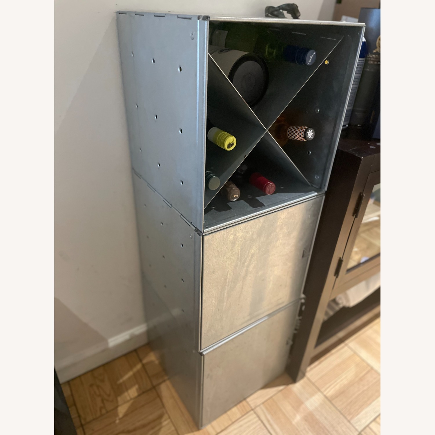 Container Store Industrial Style Wine Storage - image-1