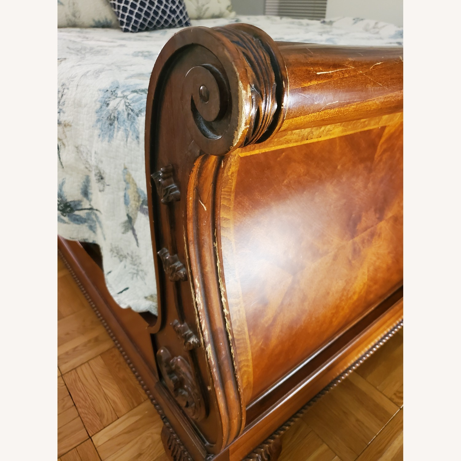 Raymour & Flanigan Wooden Sleigh Bed - image-3