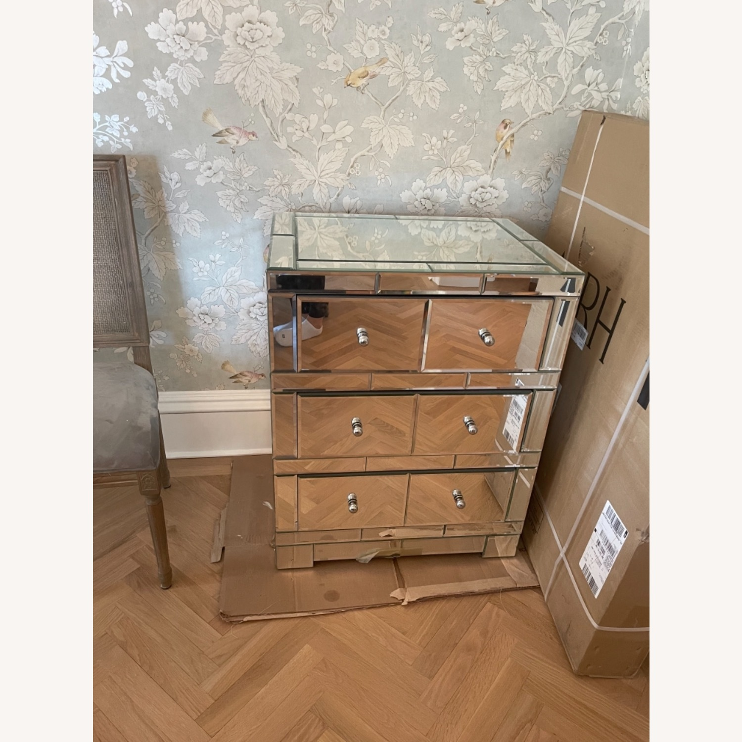 Bungalow 5 Mirrored Wood 3-Drawer Side Table - image-5