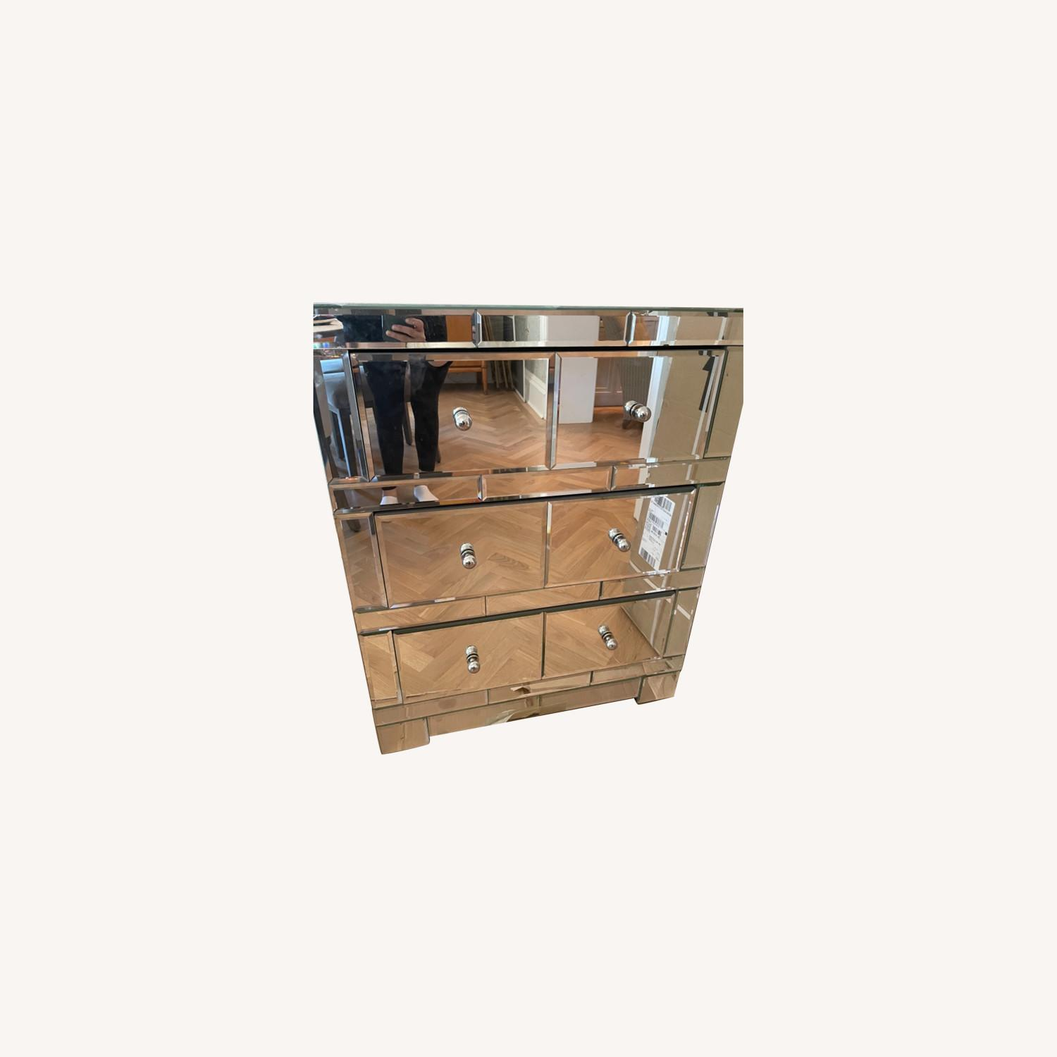 Bungalow 5 Mirrored Wood 3-Drawer Side Table - image-0