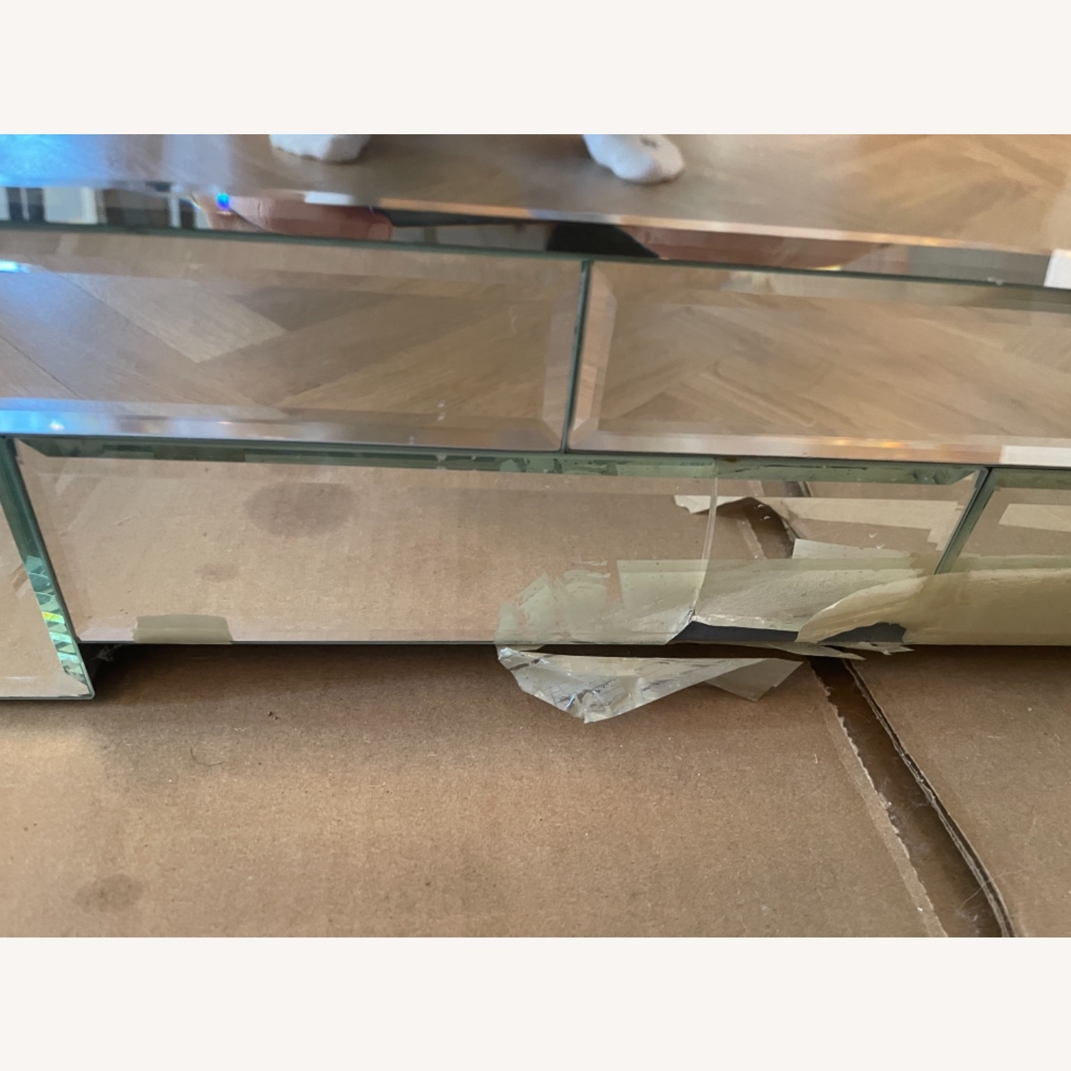 Bungalow 5 Mirrored Wood 3-Drawer Side Table - image-2