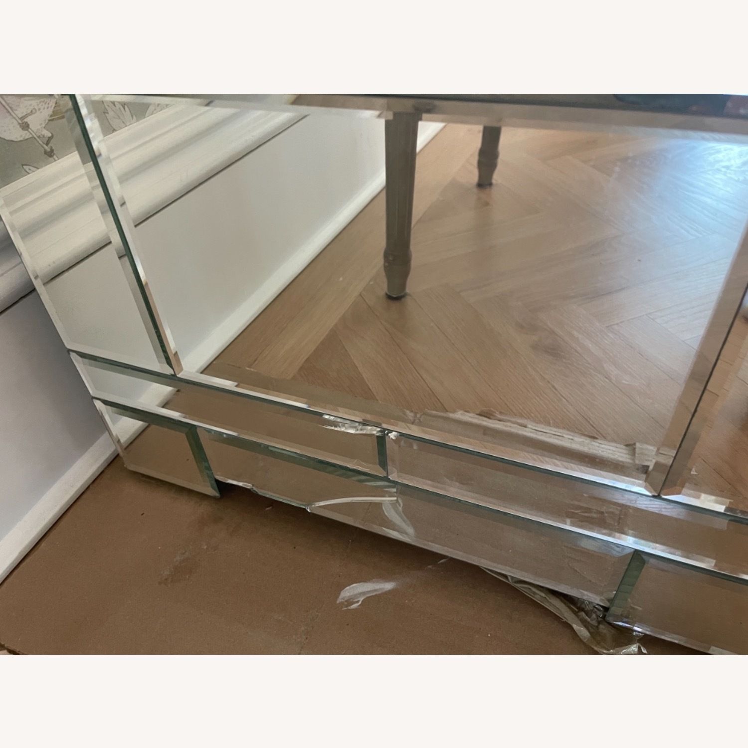 Bungalow 5 Mirrored Wood 3-Drawer Side Table - image-3