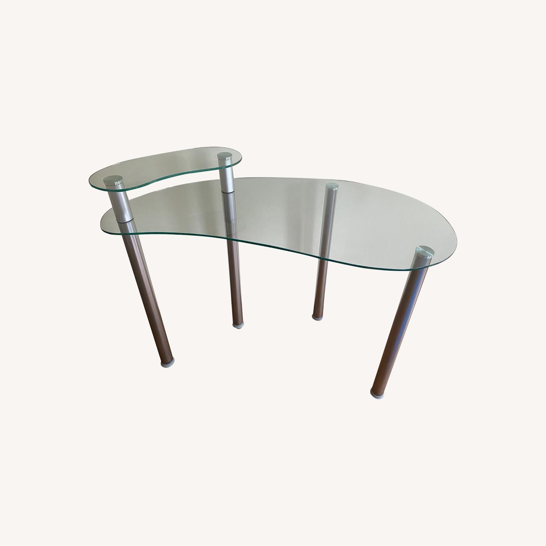 Wayfair Glass Corner Writing Desk - image-0