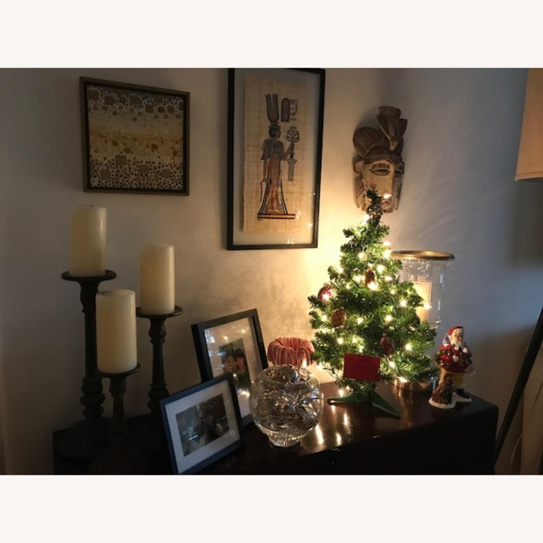 Set of 3 Bronze Pottery Barn candlesticks - image-3