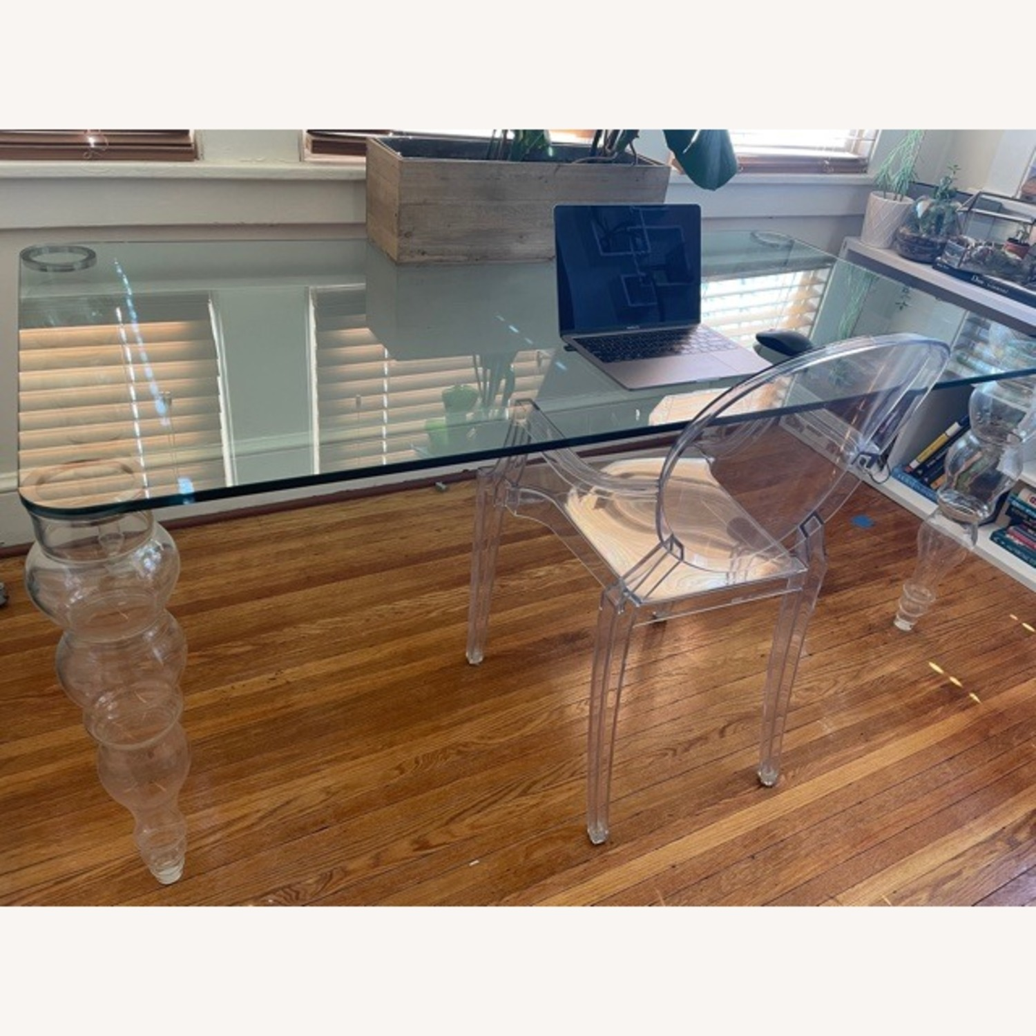 Modern Clear Glass Desk - image-1