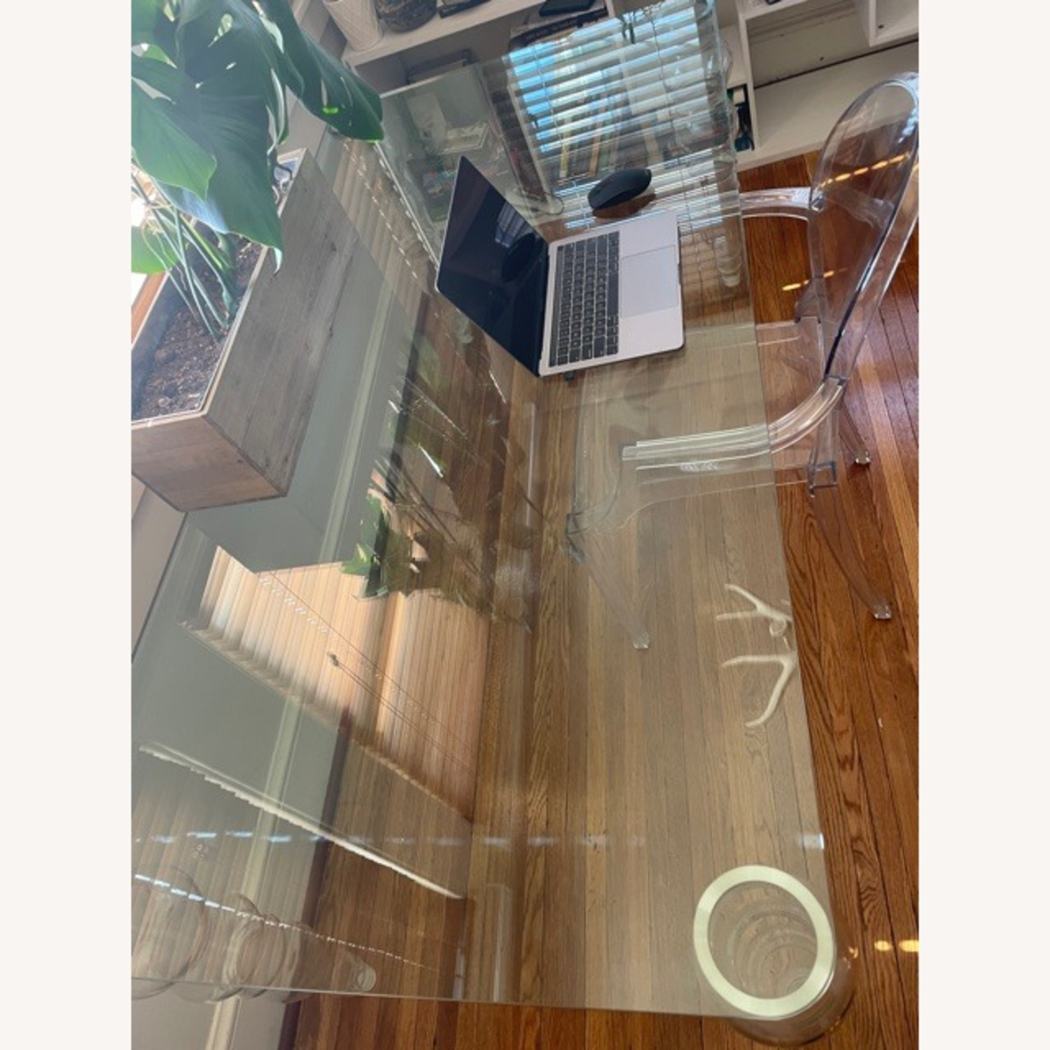 Modern Clear Glass Desk - image-3