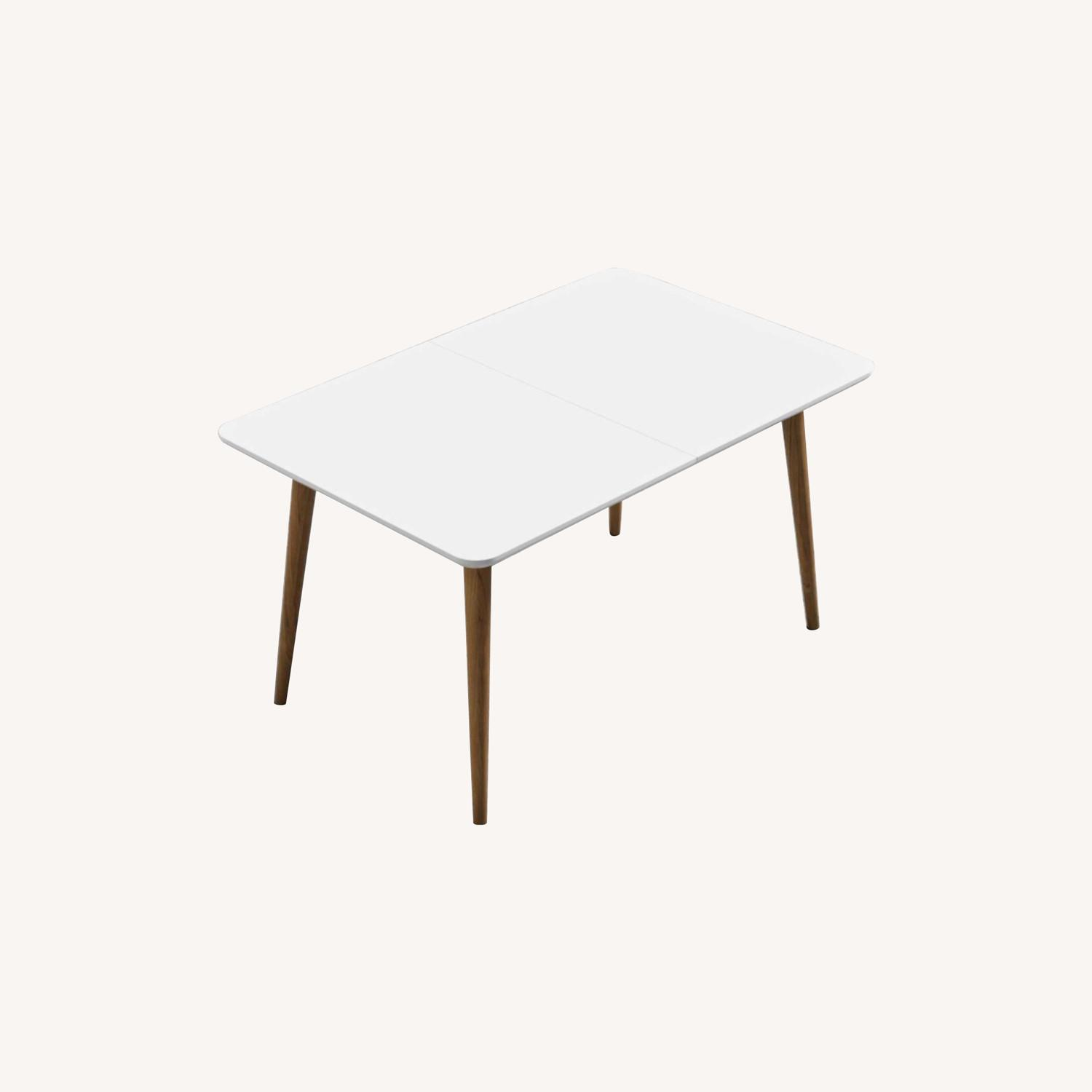 Rove Concepts White with Wood Dining Table - image-0