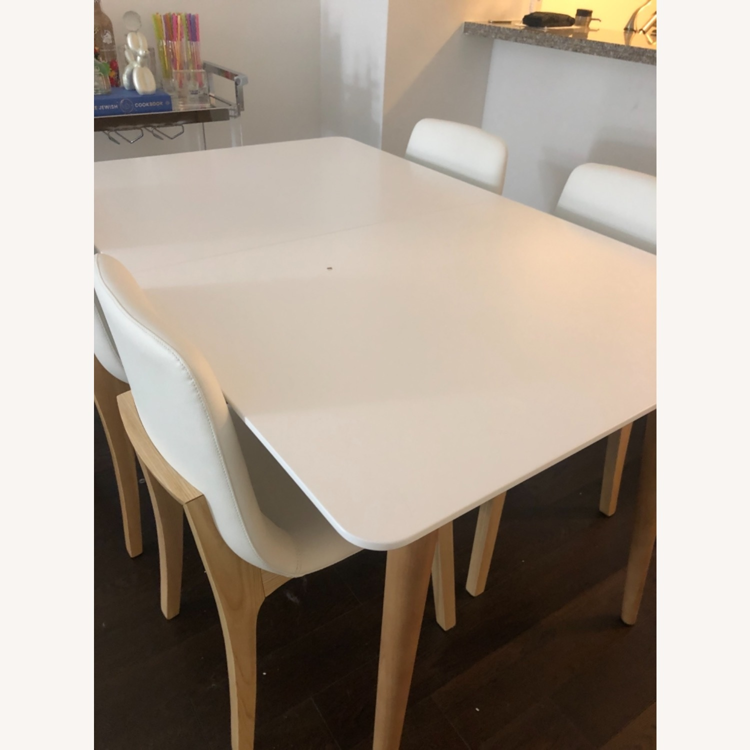Rove Concepts White with Wood Dining Table - image-3