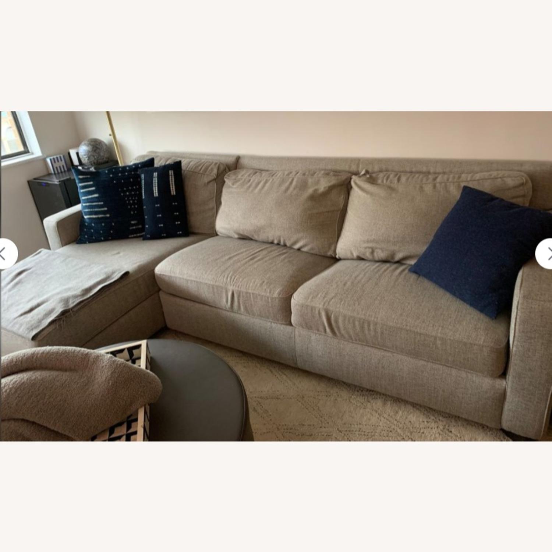 West Elm Grey Twill Henry Sleeper Sofa - image-2