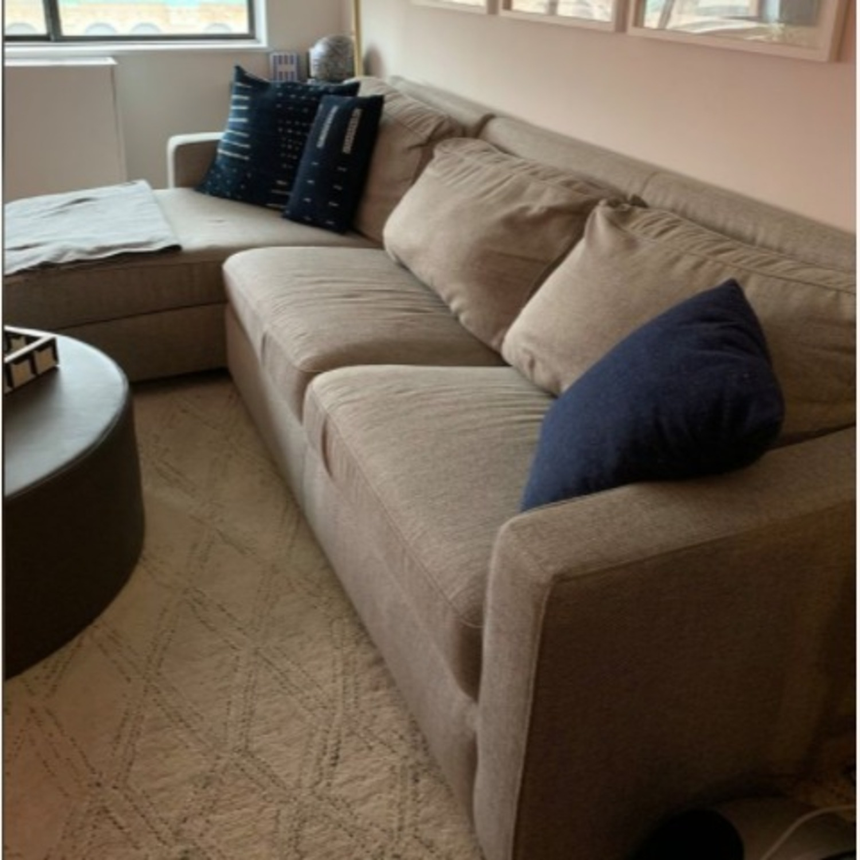 West Elm Grey Twill Henry Sleeper Sofa - image-1