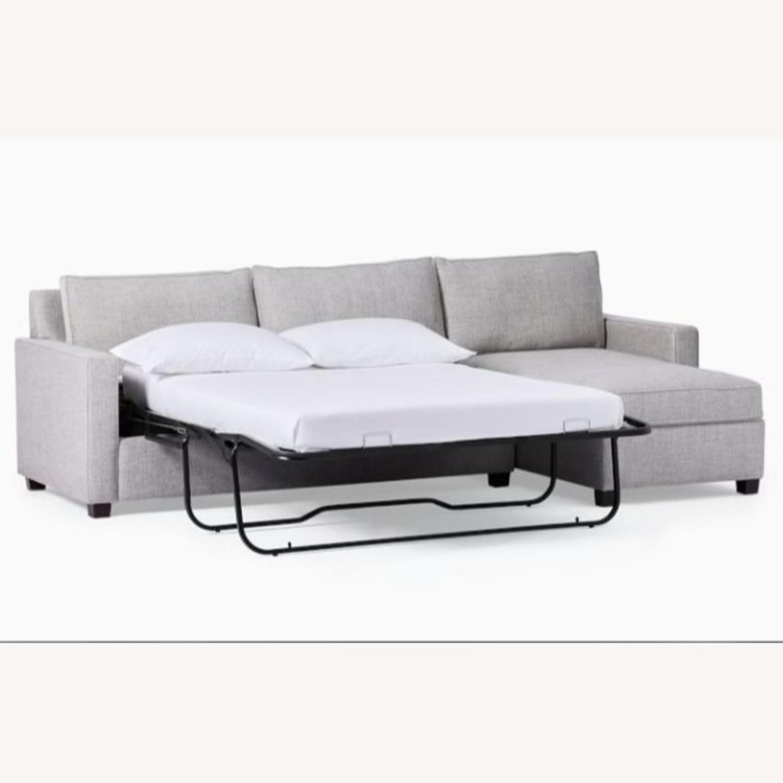 West Elm Grey Twill Henry Sleeper Sofa - image-3