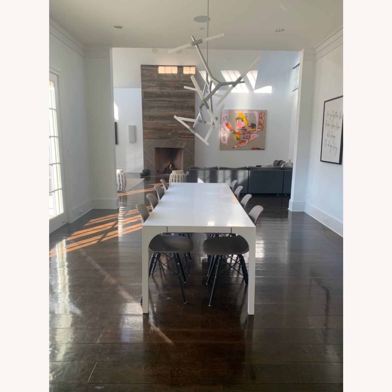Modern Dining Chair Dark Grey Dark Black Wood Legs - image-4