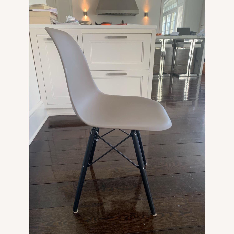 Modern Dining Chair Dark Grey Dark Black Wood Legs - image-2