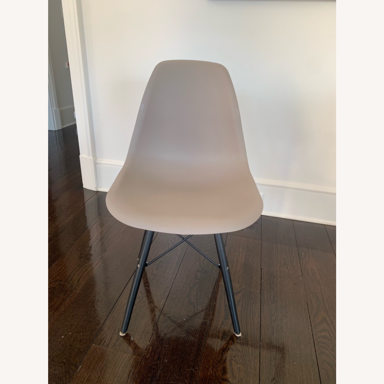Modern Dining Chair Dark Grey Dark Black Wood Legs - image-1