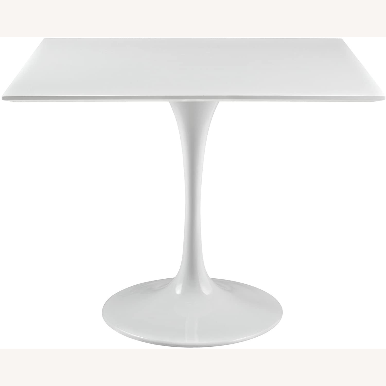 """Modern 36"""" Square Dining Table In White Wood Top - image-0"""