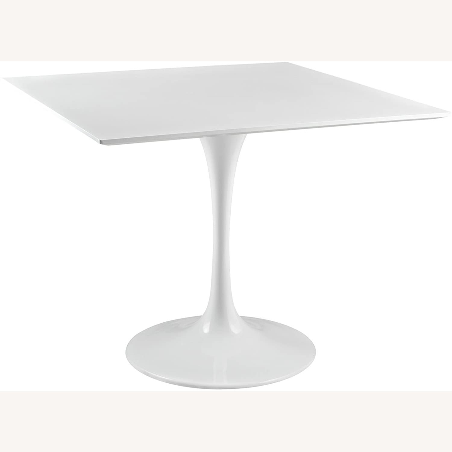 """Modern 36"""" Square Dining Table In White Wood Top - image-1"""
