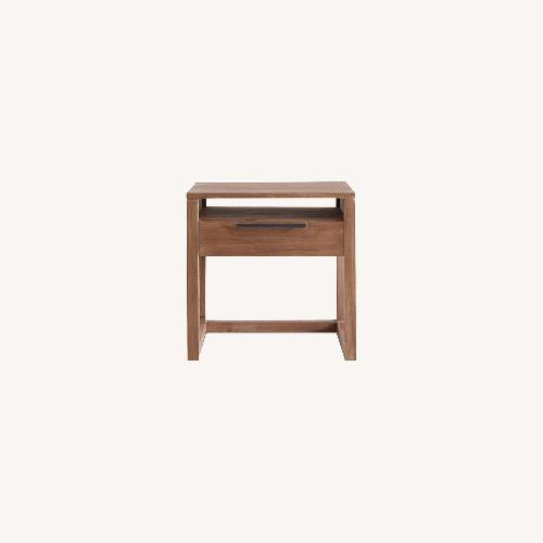 Used Crate and Barrel Linea II Natural Nightstand for sale on AptDeco