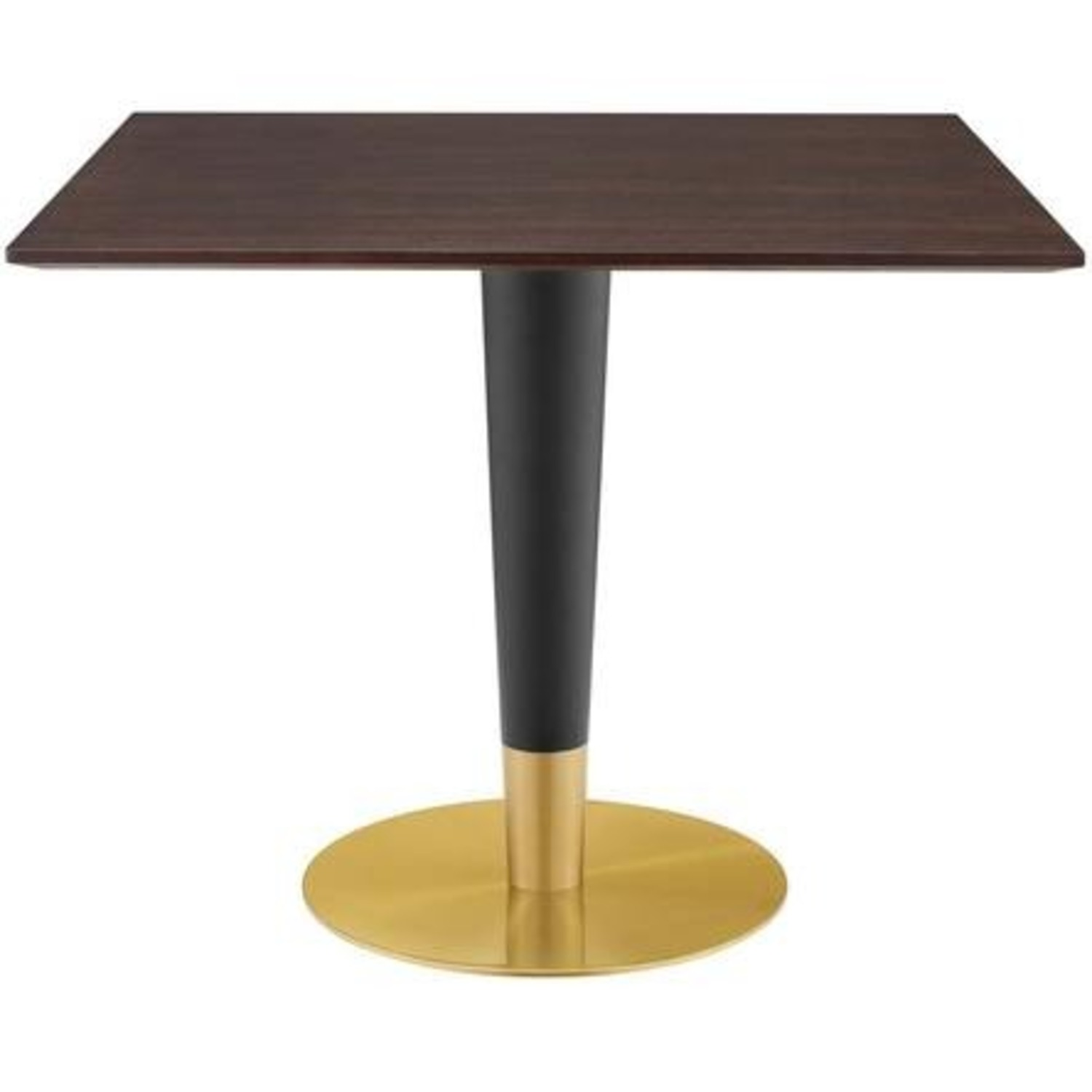 Modern Dining Table In Square Cherry Walnut Top - image-0