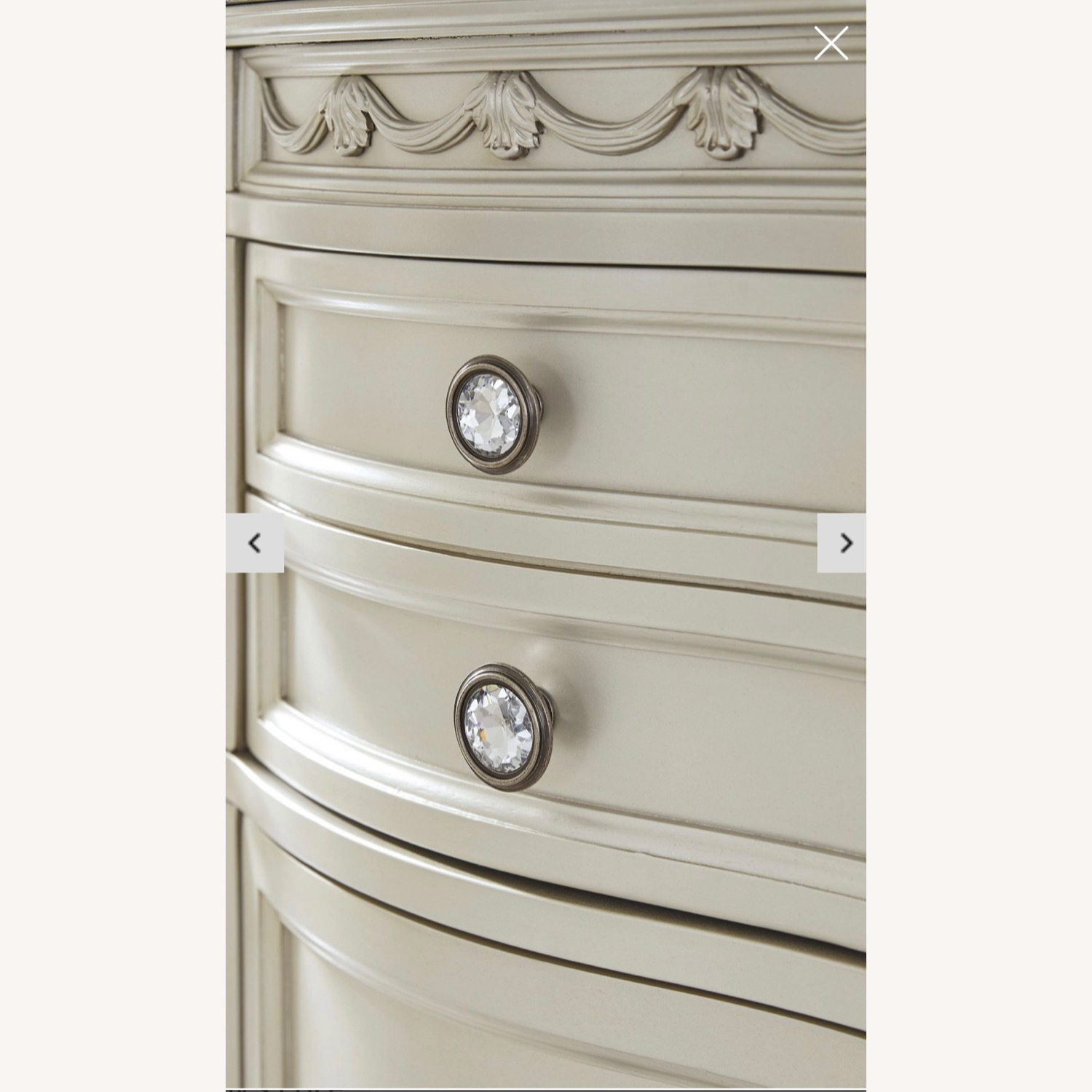 Pearl Silver and Dark Brown Dresser - image-2