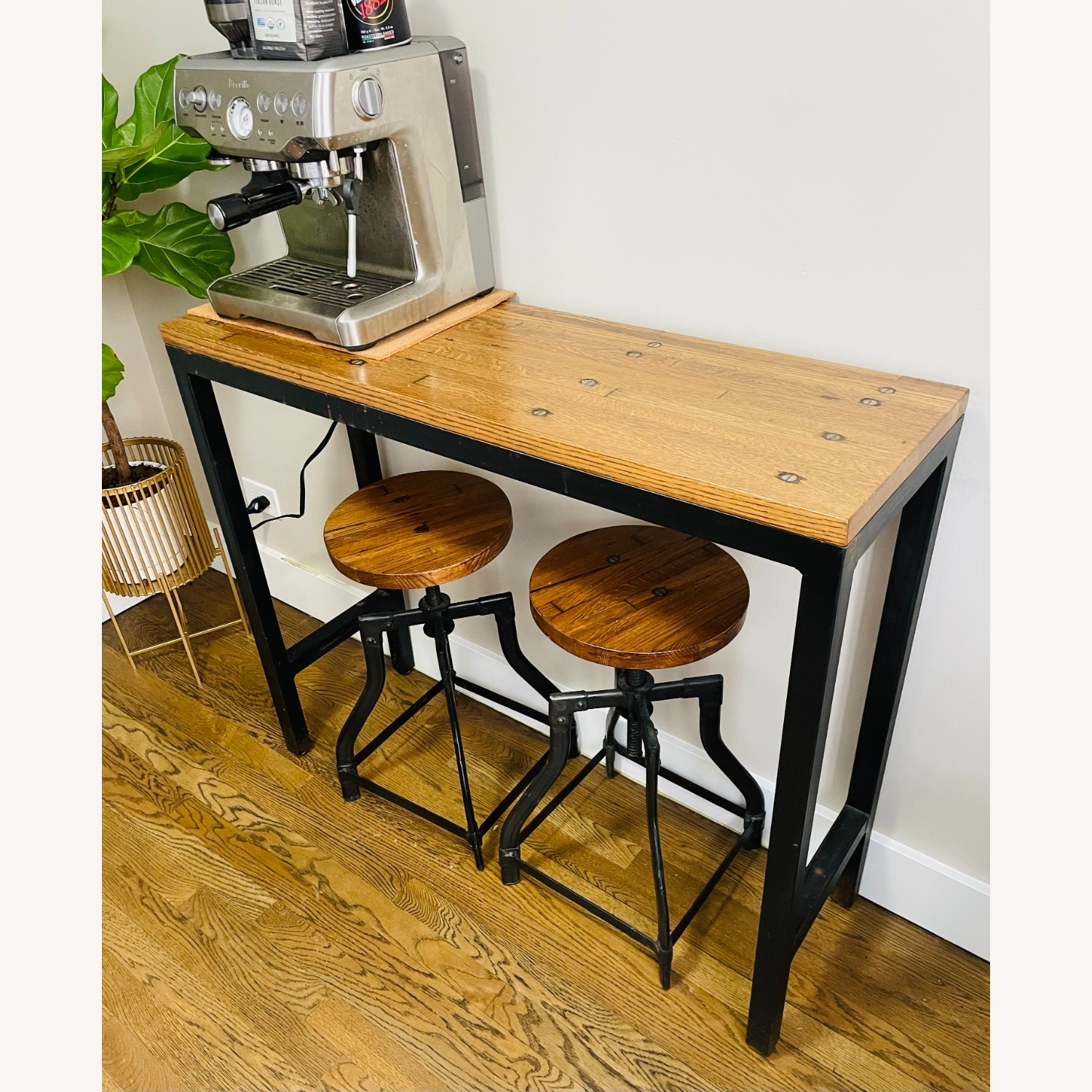 Console Table with Matching Stools - image-1