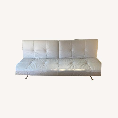 Used Ligne Roset Smala Leather Sleeper Sofa for sale on AptDeco