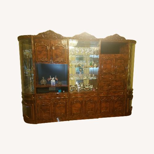 Used Multi Section Polished Wood Wall Unit for sale on AptDeco
