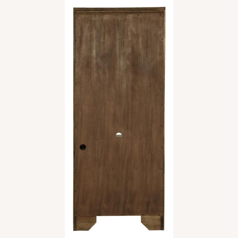 Bookcase In Burnished Oak Finish W/ Cabinet - image-6