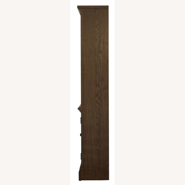Bookcase In Burnished Oak Finish W/ Cabinet - image-4