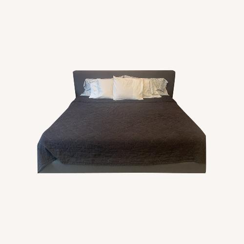 Used King Size Bed Frame - Low to ground for sale on AptDeco