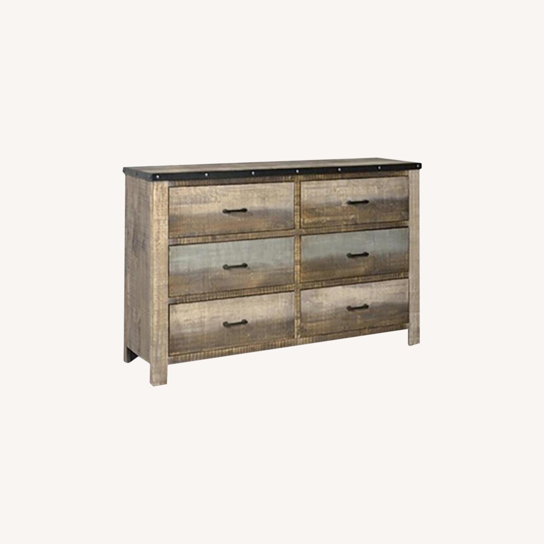 Dresser In Antique Multi-Color Wood Finish - image-5
