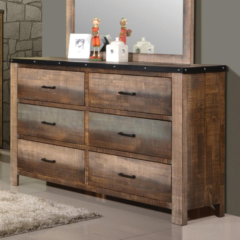 Dresser In Antique Multi-Color Wood Finish - image-2