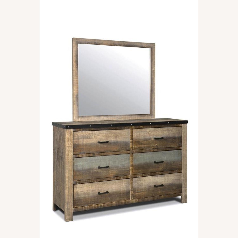 Dresser In Antique Multi-Color Wood Finish - image-1