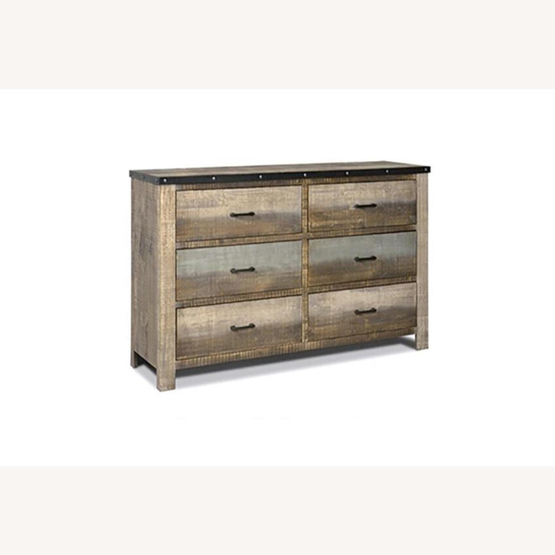 Dresser In Antique Multi-Color Wood Finish - image-0
