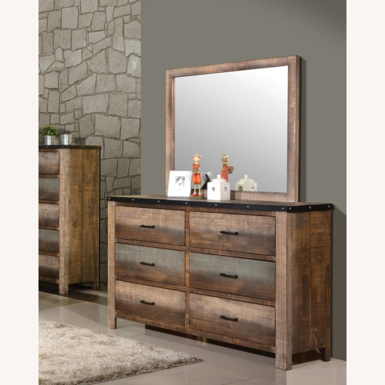 Dresser In Antique Multi-Color Wood Finish - image-3