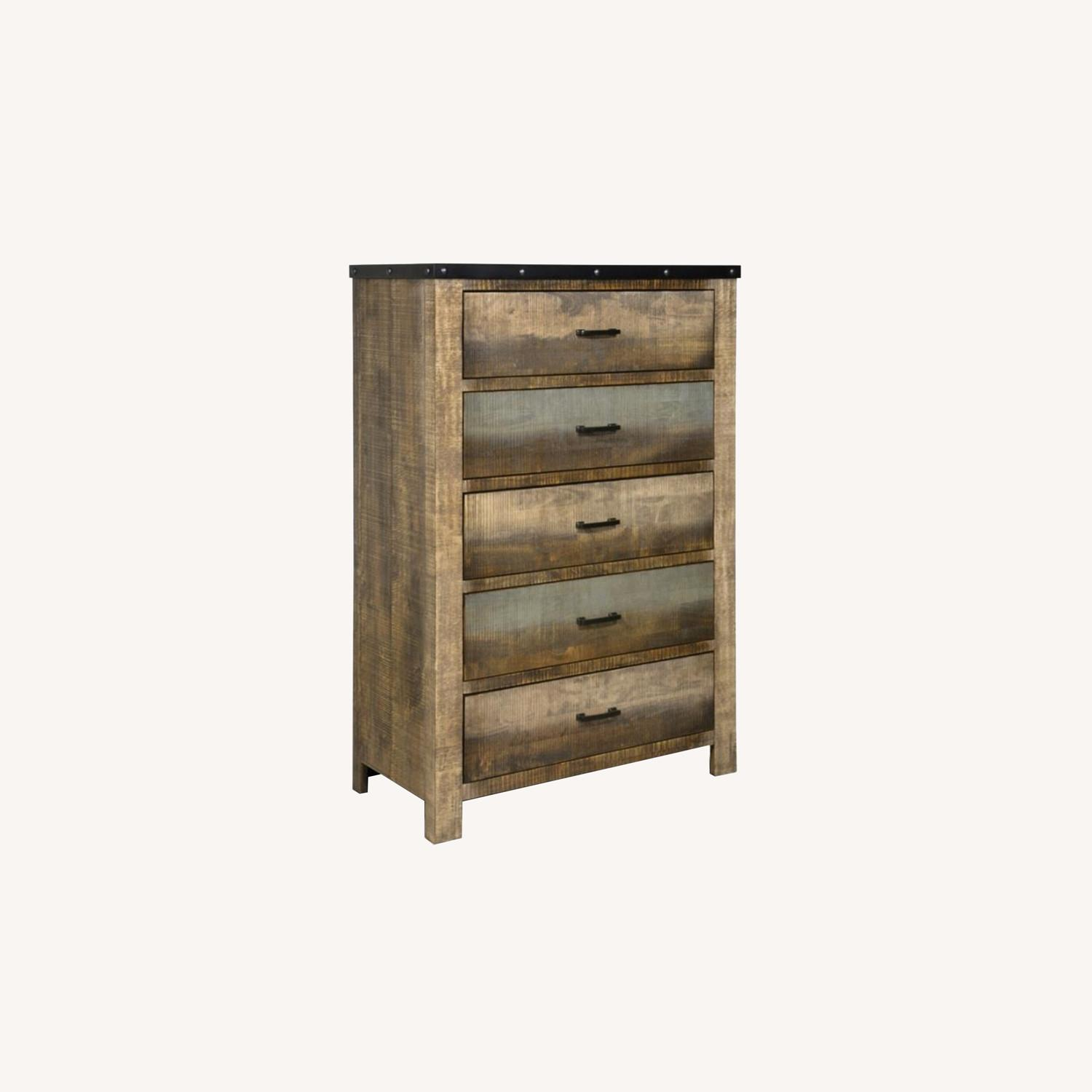 Chest In Antique Multi-Color Wood Finish - image-5