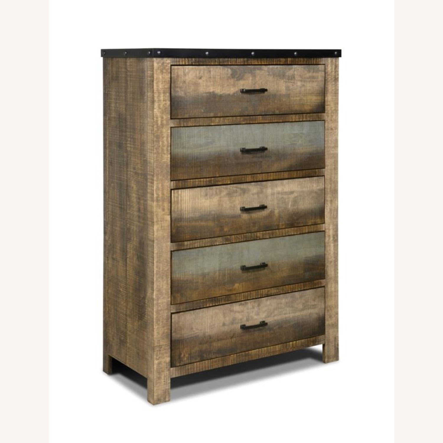Chest In Antique Multi-Color Wood Finish - image-0