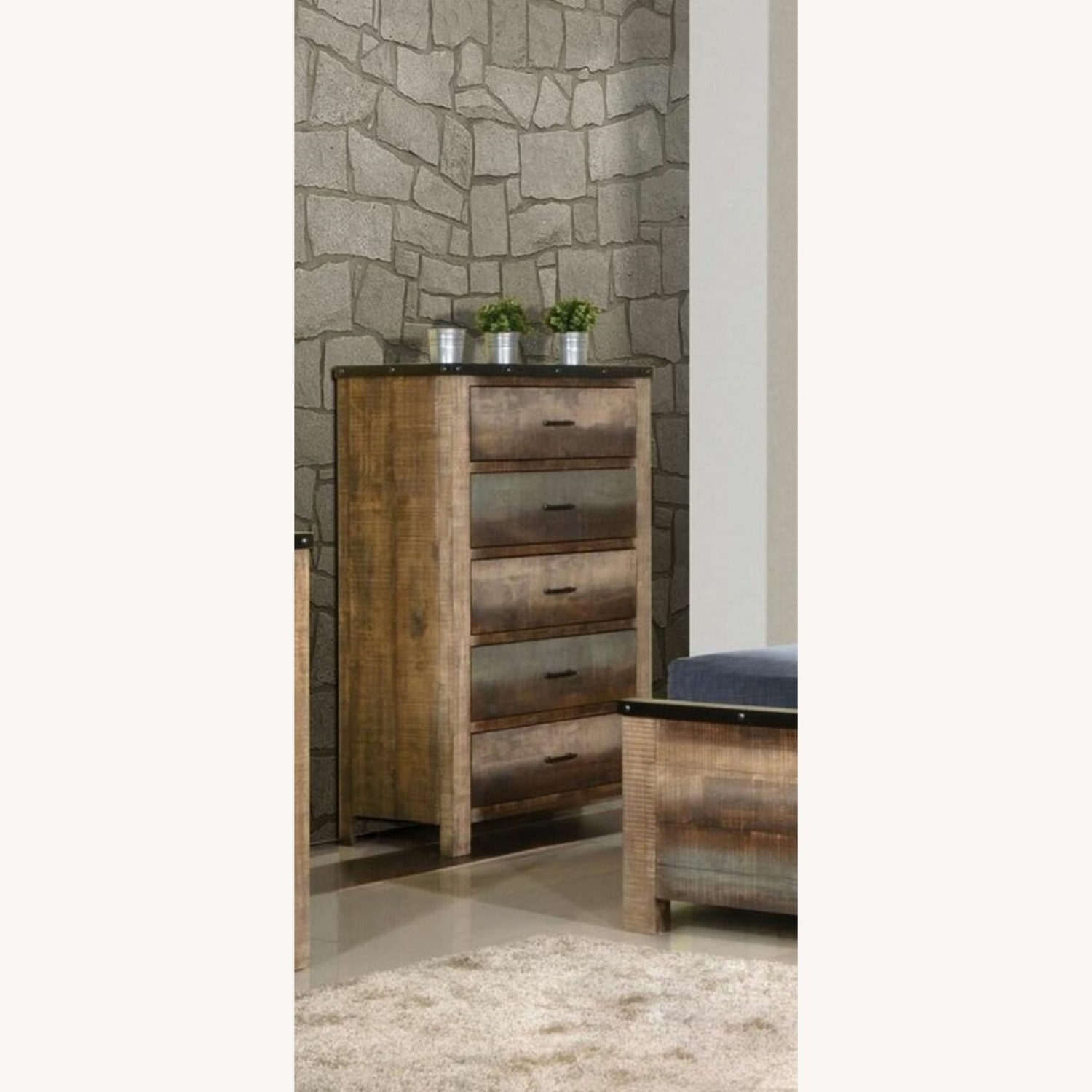 Chest In Antique Multi-Color Wood Finish - image-2