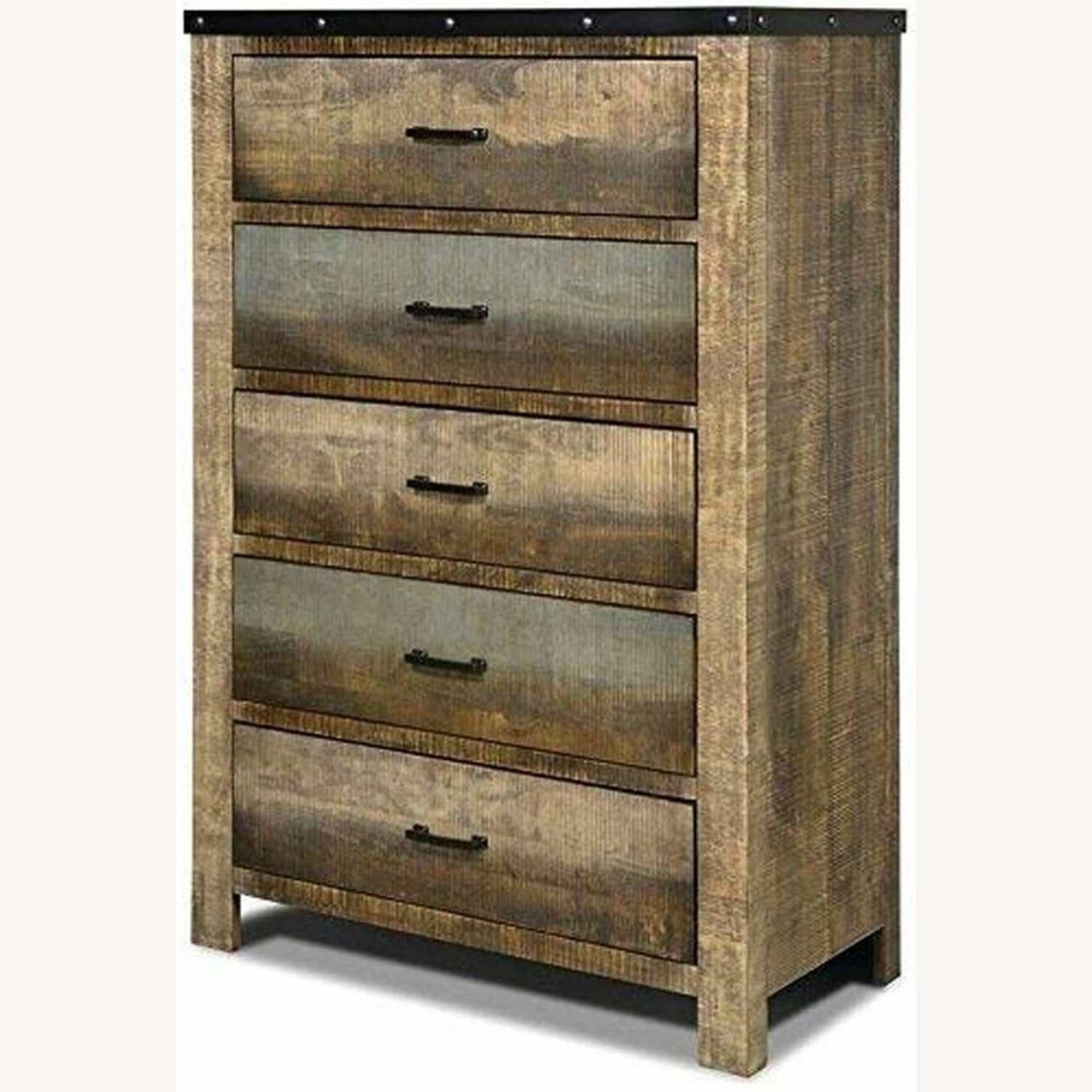 Chest In Antique Multi-Color Wood Finish - image-1