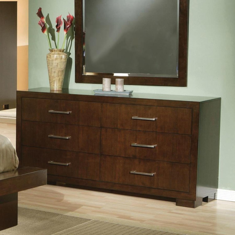 Dresser In Cappuccino Finish W/ Bar Handles - image-2