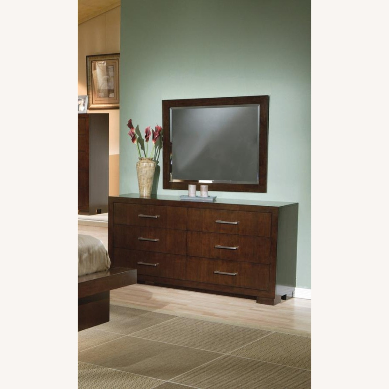 Dresser In Cappuccino Finish W/ Bar Handles - image-3