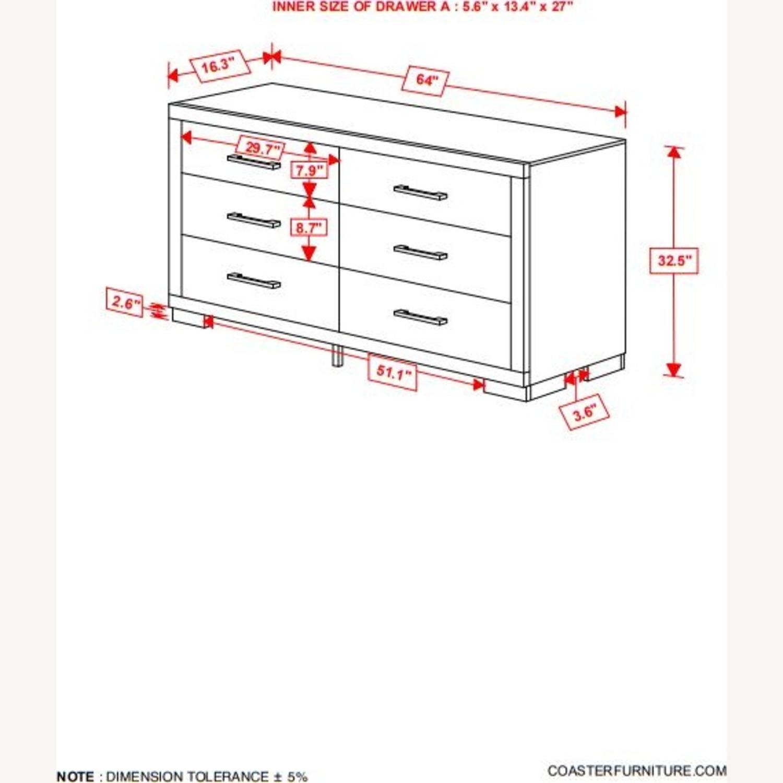 Dresser In Cappuccino Finish W/ Bar Handles - image-5